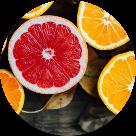 cut fruits in a circle